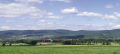 Долина р. Котлама. Поселения Помидоры 1–4. Вид с юго-запада.