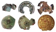 Образцы средневековых глазурованных чаш.