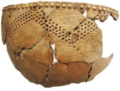 Находки со стоянок: керамический сосуд.