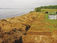 Вид (с юга) на комплекс после археологических работ.