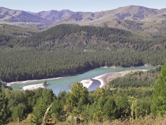 Горная долина Нижней Катуни. Вид с востока.