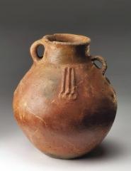Глиняный сосуд. Западноманычская катакомбная культура. Курган 4, погр. 10.