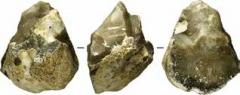 Каменное орудие: чоппер. Стоянка Мухкай II, слой 80.
