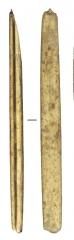 Изделия из кости: оправа метательного оружия (длина 11, 1 см) с пазом для вкладышей.