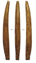 Изделия из кости: предмет (длина 11, 2 см) с нарезным орнаментом.