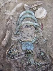 Погребение 57. Фрагмент in situ.