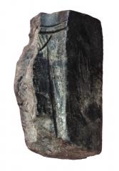 Находки с поселения: обломок литейной формы из жилища 7.