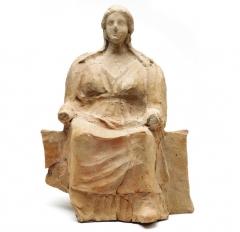 Находки с поселения: терракотовая статуэтка. III в. до н.э.