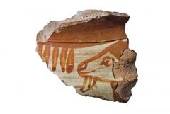 Находки с поселения: фрагмент амфоры или ойнохои. Северная Иония. 580–560 гг. до н.э.