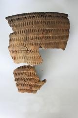 Находки из неолитических слоев памятника: керамика усть-бельского типа.