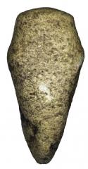 Находки с поселения: заготовка каменного топора-молотка.