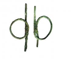 Находки из погребения 25: бронзовые кольца-закрутки для управления быками.